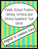 7th-8th Grade Problem Solving: Writing Equations Task Cards (CCSS)