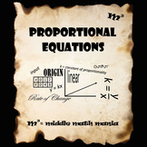 7th & 8th Grade Writing & Using Proportional Equations