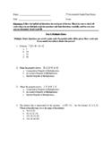 7th Accelerated /Pre-Algebra MATH FINAL EXAM