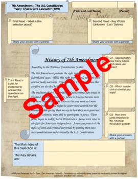 "7th Amendment - ""Jury Trial in Civil Lawsuits"" - Enhanced DBQ - Close Read (PDF)"