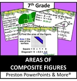 (7th) Areas of Composite Figures in a PowerPoint Presentation