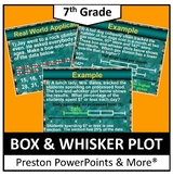 (7th) Box-and-Whisker Plot in a PowerPoint Presentation