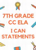 7th CC ELA I CAN POSTERS