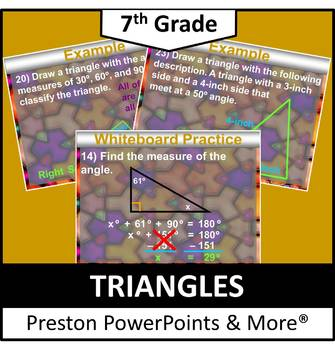 (7th) Triangles in a PowerPoint Presentation