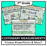 (7th) Customary Measurements in a PowerPoint Presentation