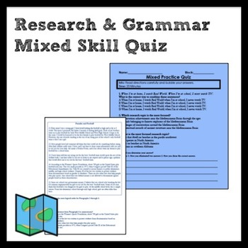 Mixed Standard Quiz for Writing and Research