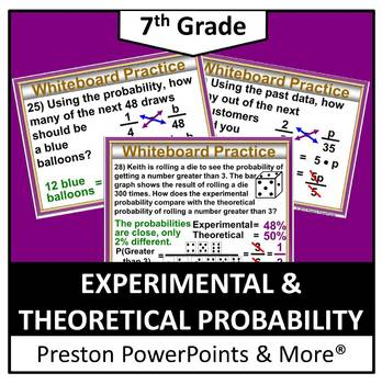(7th) Experimental and Theoretical Probability in a PowerPoint Presentation