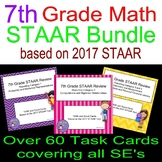 7th Grade 2017 STAAR Review Bundle Scoot Cards