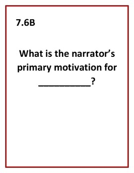 7th Grade 2017 STAAR Stem Questions