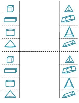 7th Grade 3-D Figures Lesson: FOLDABLE & Homework