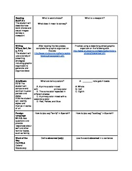 7th Grade ALL SUBJECTS Cross Curricular Prep Bundle #1-10