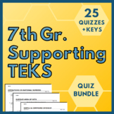 7th Grade ALL Supporting TEKS BUNDLE!