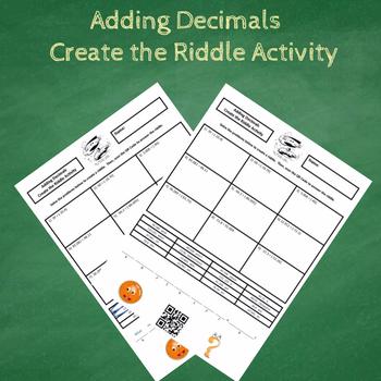 7th Grade Adding Decimals (Including Negatives) Create the Riddle