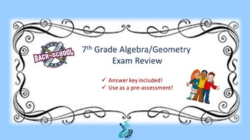 7th Grade Algebra/Geometry Review