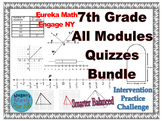7th Grade All Engage/Eureka Module Quizzes - Editable Bundle - SBAC -