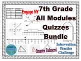 7th Grade All Engage/Eureka Module Quizzes - Editable Bund