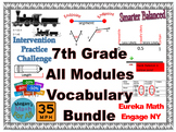 7th Grade All Engage NY/Eureka Module Vocabulary Cards - Editable and PDF- SBAC