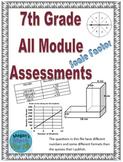 7th Grade All Modules Assessment - Editable Bundle - SBAC