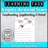 Distance Learning - 7th Grade Angles Around Town Task