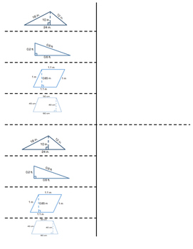 7th Grade Area of Polygons Lesson: FOLDABLE & Homework