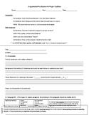 7th Grade Argumentative Outline