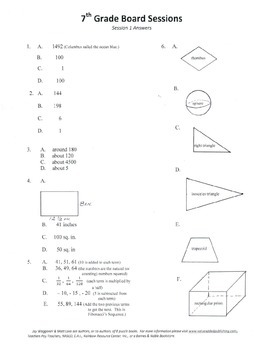 7th Grade Arithmetic,Mathematics,Geometry,activities,Combo