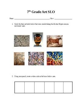 7th Grade Art Slo