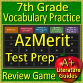 7th Grade AzMerit Test Prep Vocabulary Practice Review Game