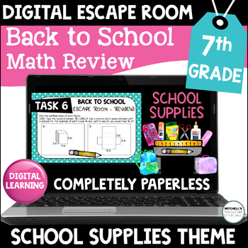 7th Grade Back to School Digital Escape Room Math Review ...