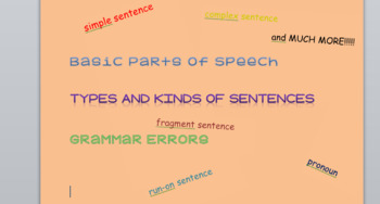 7th Grade Basic Grammar Test