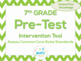 7th Grade Math Beginning of the Year Common Core Pre-Test & Intervention Tool