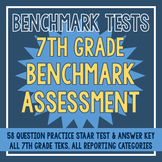 7th Grade Benchmark Assessment - 58 Questions + Answer Key