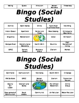 7th Grade Bingo for Milestone Review