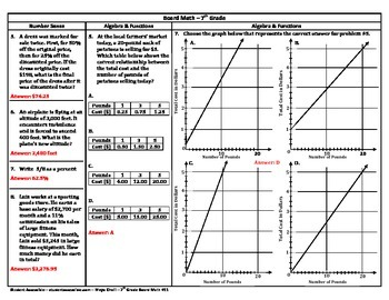 7th Grade Board Math #11 - Standardized Test Practice