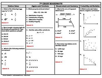 7th Grade Board Math #2 - Standardized Test Practice