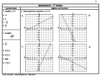 7th Grade Board Math #6 - Standardized Test Practice