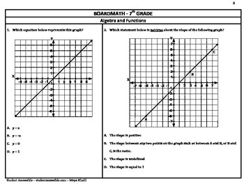 7th Grade Board Math #8 - Standardized Test Practice