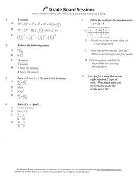 7th Grade Board Session 11,Common Core,Review,Math Counts,Quiz Bowl