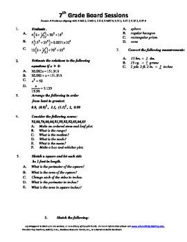 7th Grade Board Session 4,Common Core,Review,Math Counts,Quiz Bowl