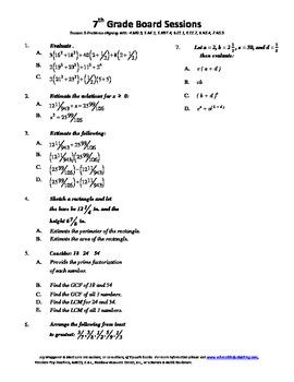7th Grade Board Session 5,Common Core,Review,Math Counts,Quiz Bowl