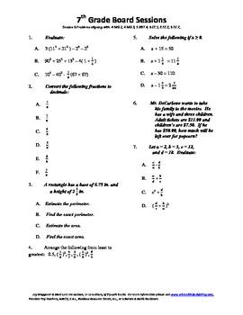 7th Grade Board Session 6,Common Core,Review,Math Counts,Quiz Bowl