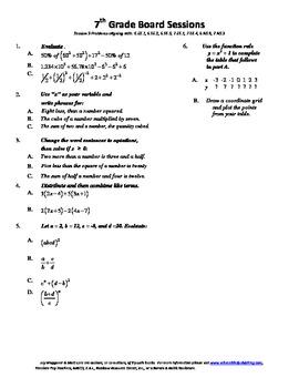 7th Grade Board Session 9,Common Core,Review,Math Counts,Quiz Bowl