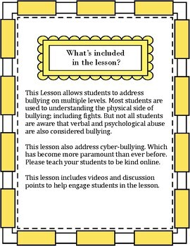 7th Grade Bullying Lesson