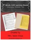 7th Grade CCSS Learning Goals Interactive Notebook Tabs