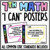 7th Grade Common Core (CCSS) Math Posters