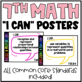7th Grade Math Common Core State Standards Math Posters |