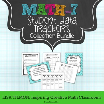 7th Grade Common Core Math Student Data Tracking Collection Bundle