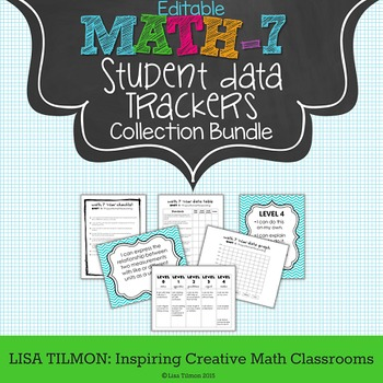 7th Grade Common Core Math Student Data Tracking Collection Bundle (EDITABLE)