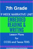 7th Grade CCSS & TEKS Narrative Reading & Writing Lesson P