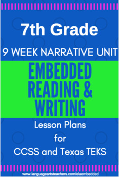 7th Grade CCSS Narrative Reading & Writing Lesson Plans --